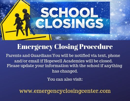 Emergency Closing Procedure
