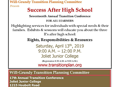 Success After High School Transition Conference at Joliet Junior College
